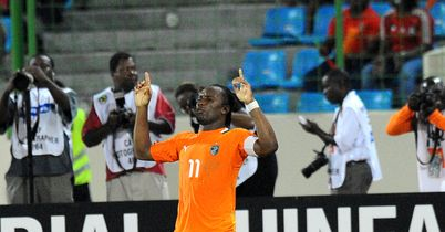 Drogba: Netted a brace for Elephants