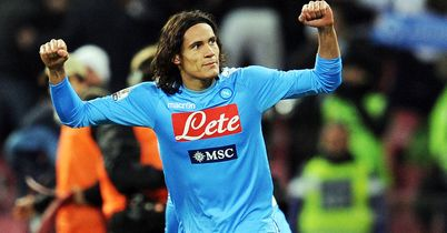 Edinson Cavani: The striker helped Napoli into the Rome final