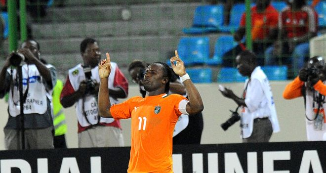 Didier Drogba: Scored twice as Ivory Coast beat Equatorial Guinea 3-0 in the quarter-finals