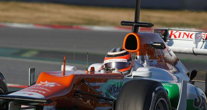 Nico Hulkenberg: Fastest at Barcelona on day two
