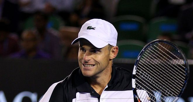 Andy Roddick: Secured a straight-sets win over Denis Istomin