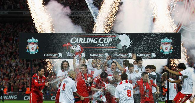 Liverpool celebrate Wembley glory