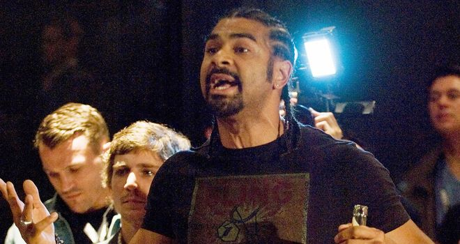 David Haye: Became embroiled in an ugly brawl with Dereck Chisora in Munich