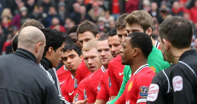 Luis Suarez: Sparked outrage by refusing to shake hands with Patrice Evra