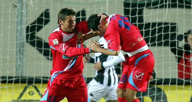 Francesco Lodi: Scored from the penalty spot as Catania edged out Siena