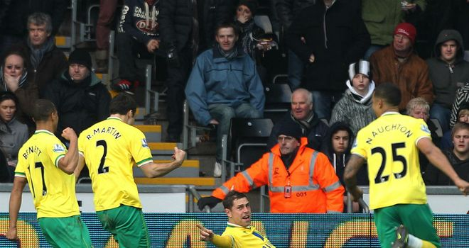 Grant Holt: Norwich striker scored twice in impressive victory away to Swansea
