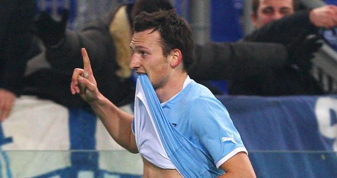 Libor Kozak: His brace helped Lazio to victory against Panathinaikos