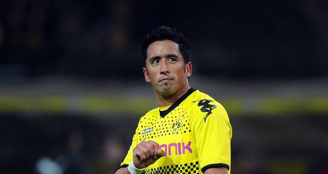 Lucas Barrios: Ready to take on a new challenge after falling out of favour at Borussia Dortmund