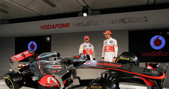 Lewis Hamilton and Jenson Button with the 2012 McLaren