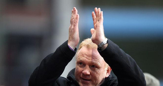 Alex McLeish: Left to rue his side's bad luck after the home defeat to Manchester City