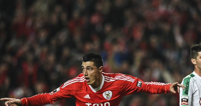 Oscar Cardozo: Netted a brace to help Benfica see off Spartak