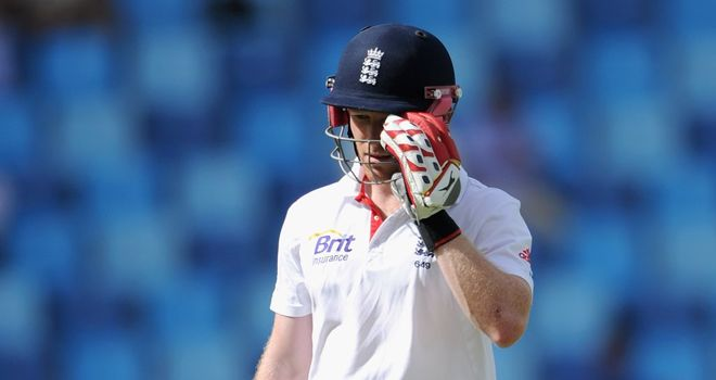 Eoin Morgan was among the England batsmen to struggle against Pakistan