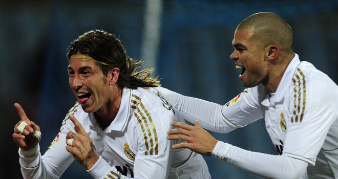 Sergio Ramos: Scored the only goal as Real Madrid beat Getafe to stay seven points clear of Barcelona