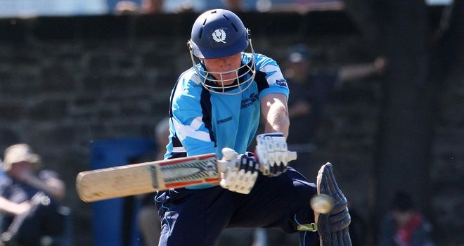 Richie Berrington: Scotland batsman made 31 in losing cause