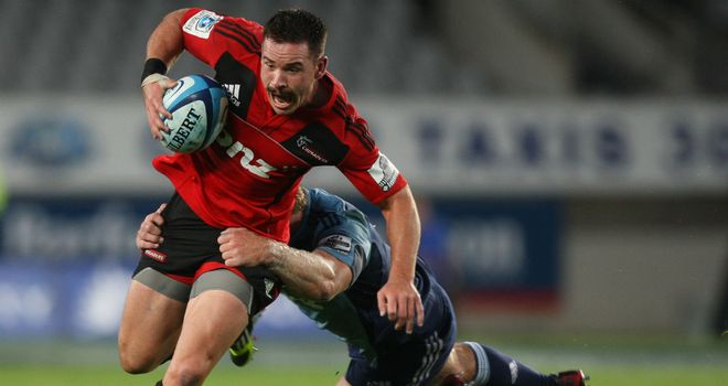 Ryan Crotty on the charge for the Crusaders
