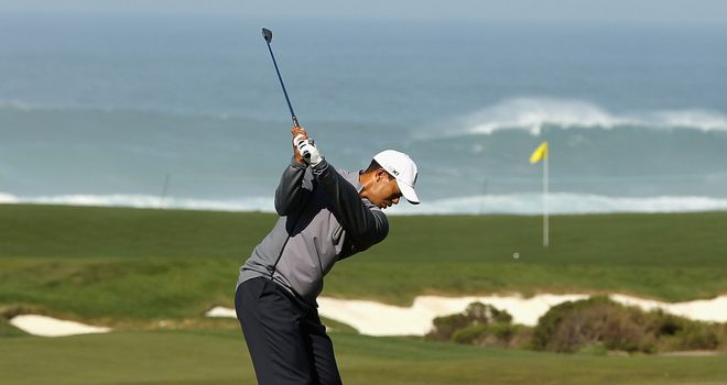 Tiger Woods: Out at 0917 local (1717 UK) at the Monterey Peninsula CC