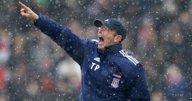 Tony Pulis: Praising his side during a tough run of fixtures