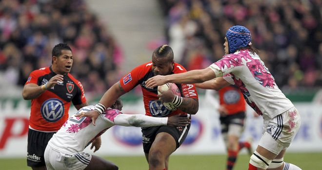 Mathieu Bastareaud on the charge for Toulon in Heineken Cup