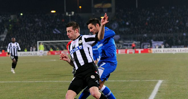 Udinese are frustrated by PAOK in the first leg of their last 32 Europa League tie