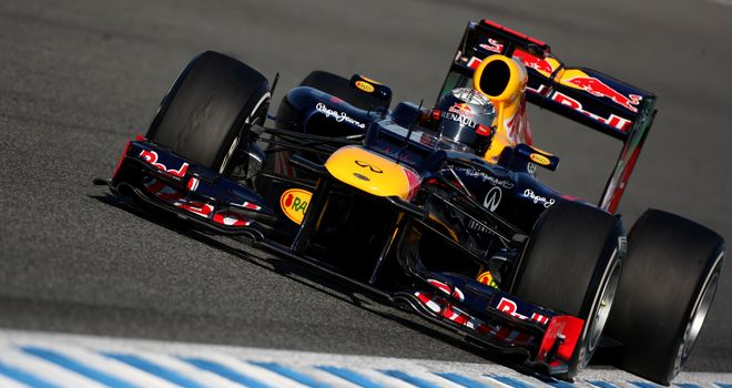 Sebastian Vettel in action at Jerez