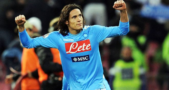 Edinson Cavani: Put Napoli 2-1 up with a superb curling effort before Roma scored a late equaliser