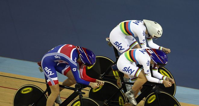 Great Britain's women cross the line to book their place in the team pursuit final