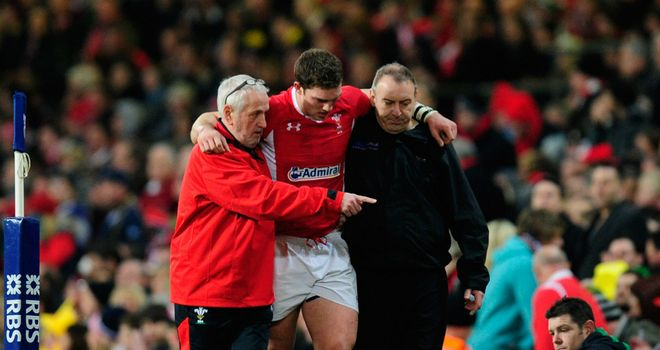 George North: Wales wing sprained his ankle during win over Scotland