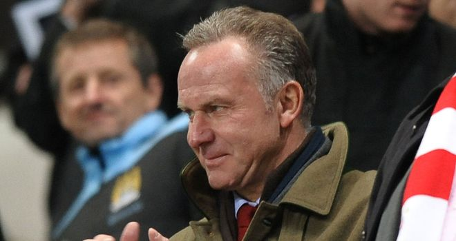 Karl Heinz Rummenigge: The Bayern chairman is wary of the threat posed by Arsenal