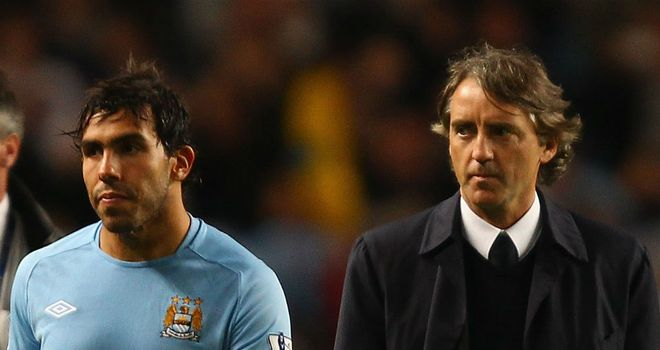 Carlos Tevez: Claims Mancini treated him 'like a dog' during their row