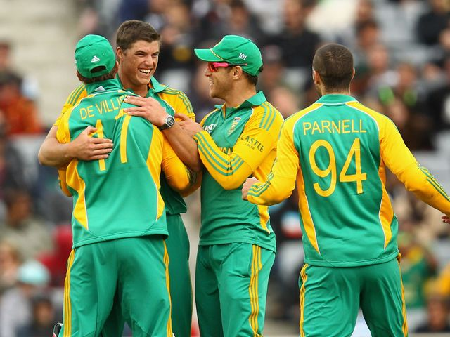 South Africa celebrate against New Zealand