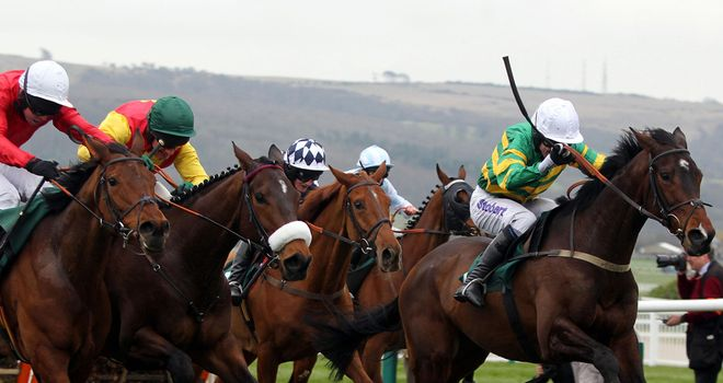 Alderwood (right) winning last year's County Hurdle
