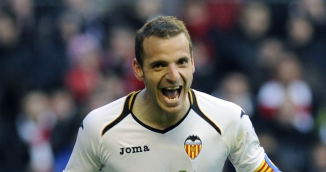 Roberto Soldado: Star of the show as he netted a hat-trick