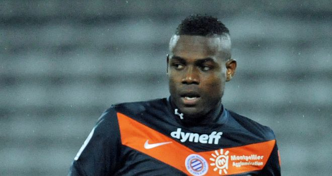 Henri Bedimo: Scored an own goal as leaders Montpellier slumped to a surprise defeat
