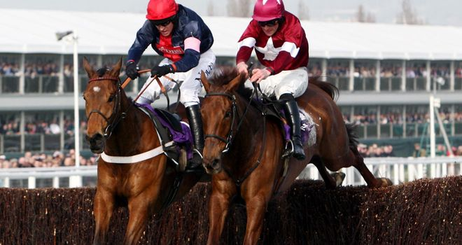 First Lieutenant (right) and Bobs Worth in the RSA Chase