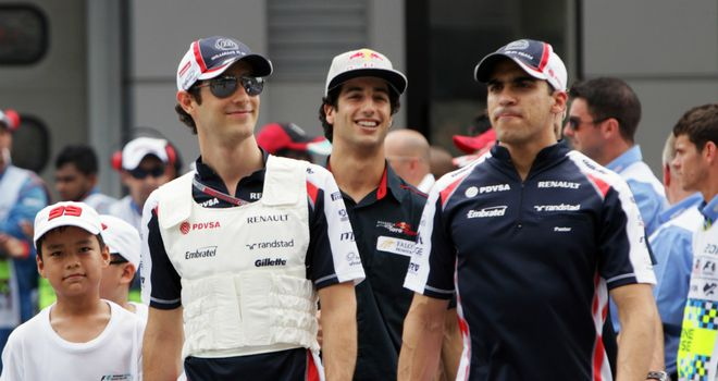 Bruno Senna and Pastor Maldonado: Confident of another good weekend in China