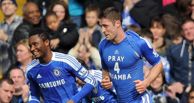 Gary Cahill: Showing his support for former Bolton team-mate Fabrice Muamba