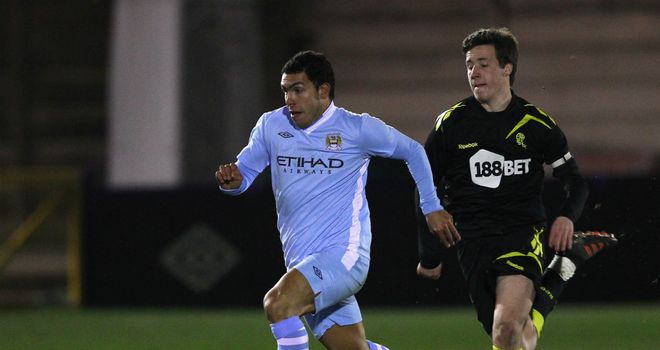 Carlos Tevez: In action for Manchester City reserves on Tuesday night
