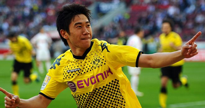 Shinji Kagawa: Borussia Dortmund star had reportedly caught the eye of both Man Utd and Chelsea recently