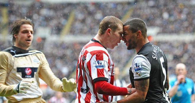 James McClean and Danny Simpson: Clashed in the 19th minute at St James' Park