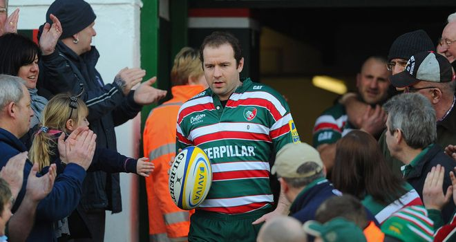Geordan Murphy: Back from injury to captain Leicester