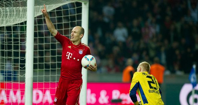 Arjen Robben: Netted a hat-trick as Bayern Munich enjoyed another big win