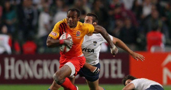 Isoa Damudamu: The England ace breaks away against Argentina