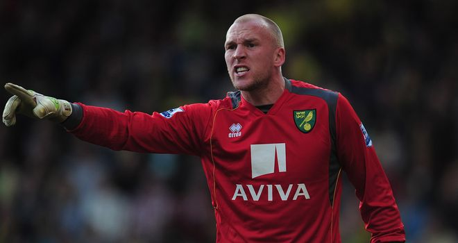 John Ruddy: Ruled out of Euro 2012 with a broken finger