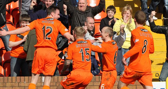 Watson: Mobbed after scoring