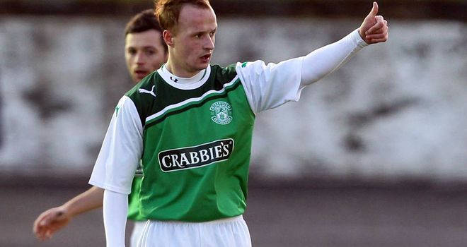 Griffiths: Scored Hibs' winner