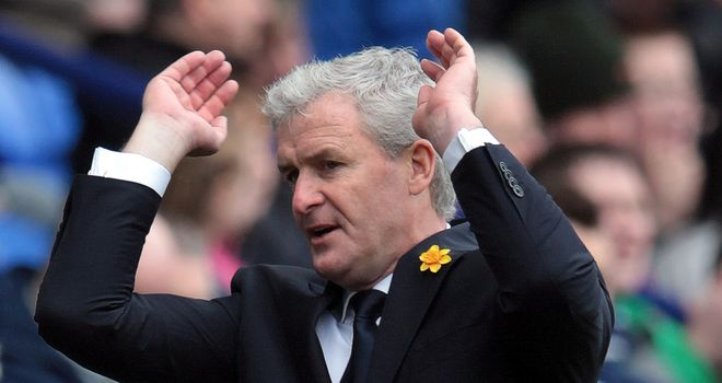 Mark Hughes: Less than impressed with failure to spot Clint Hill's headed 'goal'