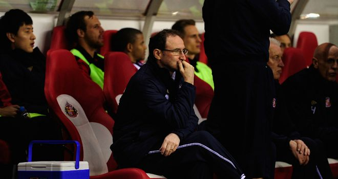 Martin O'Neill: Unhappy with the way Sunderland performed against Everton