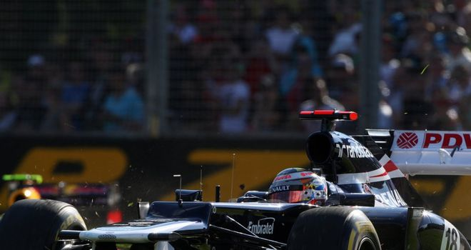 Pastor Maldonado: Crashed on the final lap of the Australian Grand Prix