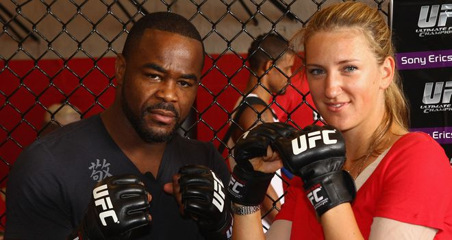 Rashad Evans and Victoria Azarenka: Unlikely training partners