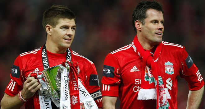 Steven Gerrard and Jamie Carragher: Hoping for more silverware to add to their collection
